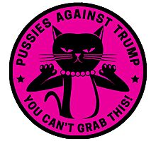 Pussies Against Trump Pink Photographic Print
