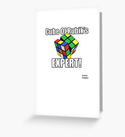 Cube Of Rubik's EXPERT Greeting Card