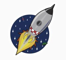 Rocket, Cartoon, Kids, Space, Sci fi Baby Tee