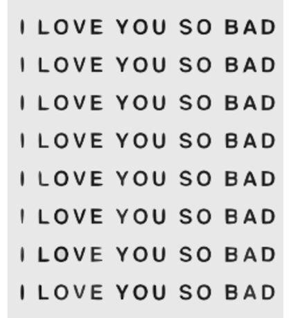 LANY, I Love You So Bad Sticker