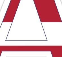stripes alpha Sticker