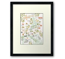Hamburg Map Framed Print