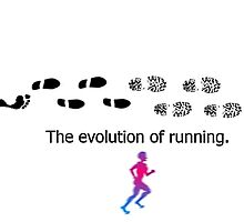 Barefoot, the evolution of running. by VorisDesigns