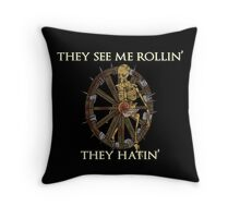 Browheel Rollin' Throw Pillow