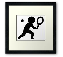 Tennis Player Icon Framed Print