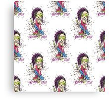 Funny rock and roll girl  Canvas Print