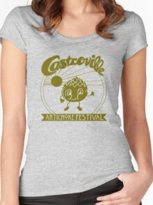 The Original CASTROVILLE ARTICHOKE FESTIVAL - Dustin's shirt in Stranger Things Women's Fitted Scoop T-Shirt