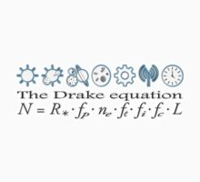 UFO, Aliens, The Drake equation, SETI, Alien, search for extraterrestrial life, Contact, Is there anyone there? One Piece - Short Sleeve