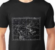Atlas Coelestis John Flamsteed 1729 14 Astronomy Constellations Inverted Unisex T-Shirt