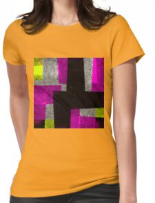 Abstract Tiles Womens Fitted T-Shirt