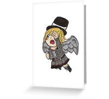 Chibi Steampunk Angel Greeting Card