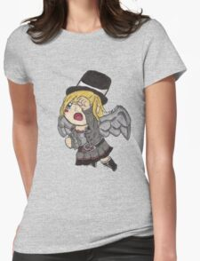 Chibi Steampunk Angel Womens Fitted T-Shirt