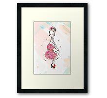 Carnation Girl Framed Print