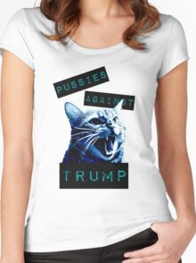 Pussies Against Trump Impact Women's Fitted Scoop T-Shirt