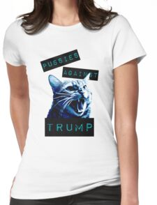 Pussies Against Trump Impact Womens Fitted T-Shirt