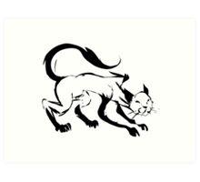 Cat - Ink Art Print
