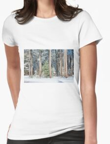 Winter Trees Womens Fitted T-Shirt