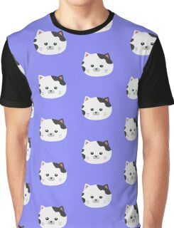 White Cat with spotted fur Graphic T-Shirt