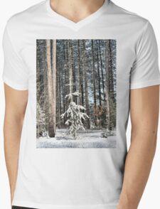 Lonely Tree Mens V-Neck T-Shirt
