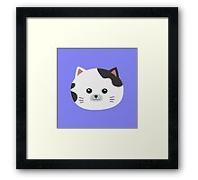 White Cat with spotted fur Framed Print
