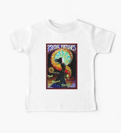 PSYCHIC FORTUNES; Vintage Fortune Teller Print Baby Tee