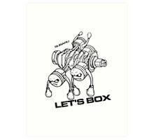 Lets Box! Subaru Boxer Engine Art Print