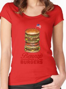 Original Benny's Burgers Stranger Things Eleven Cosplay Shirt Women's Fitted Scoop T-Shirt