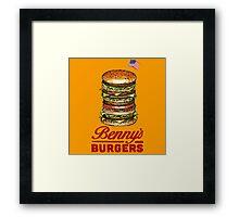 Original Benny's Burgers Stranger Things Eleven Cosplay Shirt Framed Print