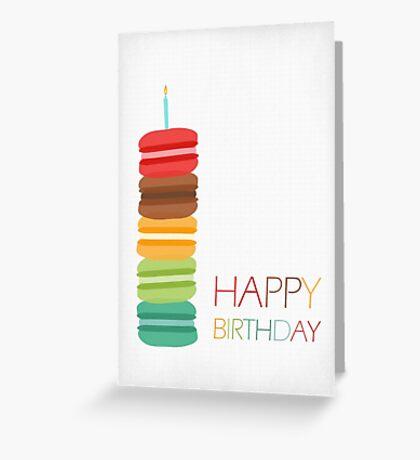 Macaron Stack Cake - Birthday Card Greeting Card