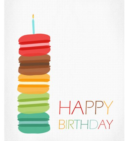 Macaron Stack Cake - Birthday Card Sticker