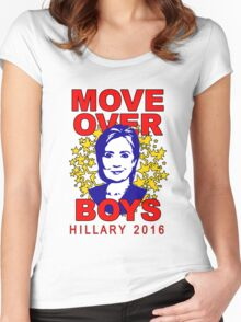 Hillary Clinton Move Over Boys Women's Fitted Scoop T-Shirt