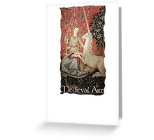 Medieval Art - Lady and the Unicorn  Greeting Card