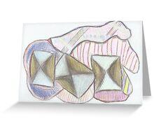 Neo Kandinsky (Dancing Cubes) Greeting Card