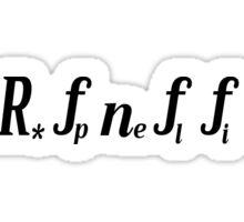 The Drake Equation Sticker