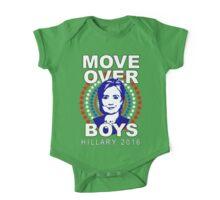 Hillary Clinton Move Over Boys One Piece - Short Sleeve