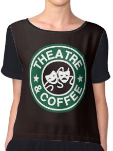 Theatre and Coffee. Chiffon Top