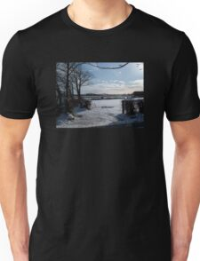 WINTER SCENE IN RURAL DEVON ENGLAND UK Unisex T-Shirt