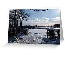 WINTER SCENE IN RURAL DEVON ENGLAND UK Greeting Card