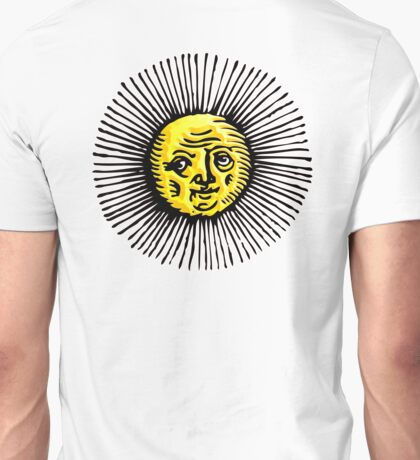 OLD SUN, STAR, engraving, etching, historic, history Unisex T-Shirt