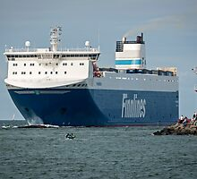 "Finnjet ferry Finnsea"" arriving at Rostock Germany 2016 by David A. L. Davies"