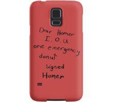 IOU one emergency donut Samsung Galaxy Case/Skin