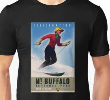Australia Mt. Buffalo Vintage Travel Poster Unisex T-Shirt