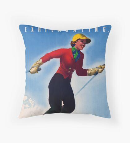 Australia Mt. Buffalo Vintage Travel Poster Throw Pillow