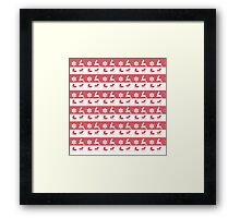 Christmas , Red and White Pattern Framed Print