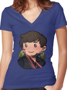 JonTron Women's Fitted V-Neck T-Shirt