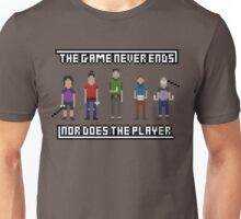 The Game Never Ends - Pixel Design Unisex T-Shirt