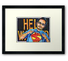 This looks like a job for a chicano! Framed Print