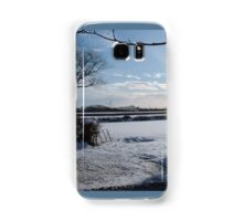 WINTER SCENE IN RURAL DEVON ENGLAND UK Samsung Galaxy Case/Skin