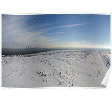 Calgary Kanada Winter Landschaft Foto Poster