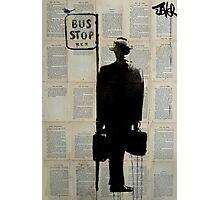 bus stop Photographic Print